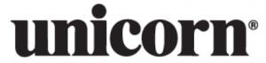 Logotipo de la marca de dardos Unicorn